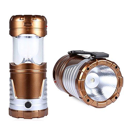 Beetest L'énergie solaire pliable portable alimenté par USB Rechargeable LED Outdoor Camping Accueil urgence lanterne lumière Power Bank Bronze