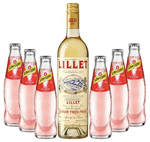 Sommeraperitif-Set Lillet Blanc 17% Vol. 0,75l & Schweppes Russian Wild Berry 6x0,2l inkl. 0,90€ MEHRWEG Pfand