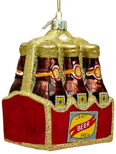 SIKORA BS483 Six-Pack Craft Bier Christbaumschmuck Glas Figur Weihnachtsbaum Anhänger