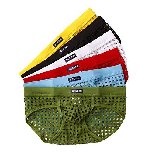 YFD Herren Boxershorts Unterwäsche Sexy Low Rise Bikini Slip Panty 6er Pack Gr. M, Slip
