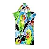NQING Streifen 3D gedruckte Strand Sonnencreme und winddichten Bademantel, Kapuzenmantel und Poncho, Surf-Handtuch, Mikrofaser-Handtücher Mantel