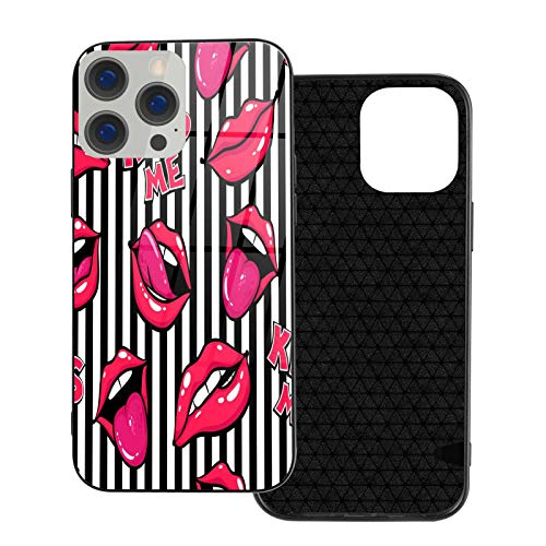 Custom Phone Case for iPhone 12 / iPhone 12 Pro,Sexy Lips Pattern Designed for iPhone 12 / iPhone 12 Pro Case, Funny Personalized Birthday Christmas Valentines Gifts