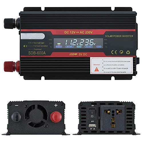 Inversor de coche 12 V 220 V 3000 W inversor de potencia pico convertidor de voltaje transformador 12 V/24 V a 110 V/220 V + pantalla LCD