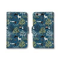 【ノーブランド品】 Xperia XZs 602SO スマホケース 手帳型 動物 イラスト リス ウサギ ネイビー 紺 かわいい おしゃれ 携帯カバー 602SO ケース 携帯ケース エクスぺリア