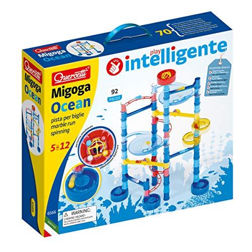 Quercetti-Quercetti-6566 Migoga Ocean Spinning, Gioco di Costruzione-Piste per biglie per Bambini, 6566