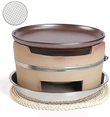 WSVULLD Conjunto de barbacoa de carbón de leña de carbón de carbón de leña antigua, mesa de barbacoa de mesa portátil, estufa de carbón de alimentación de la parrilla de la mesa con rejilla re