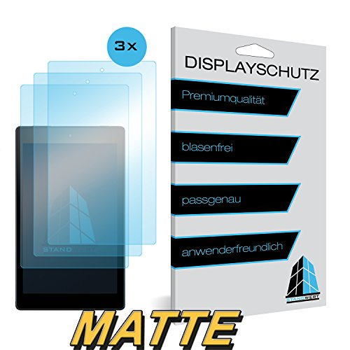 Atril valor protector de pantalla para Amazon Fire HD 8–Matte–Pack de 3