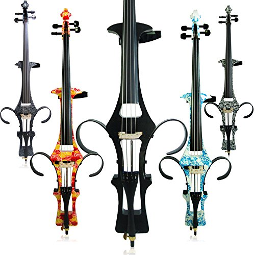 Aliyes Handmade Professional Solid Wood Electric Cello 4/4 Full Size Silent Electric Cello-Carbon Fiber