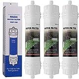 Magic Water Filter WSF-100 | Paquete de 3 - Filtro de agua para frigorífico Samsung - Cartucho filtrante externo para refrigerador, nevera americano - Filtros WSF100