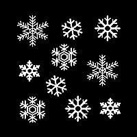 カーステッカー カーステッカー漫画のオートバイビニールデカールブラック/シルバー19.2 * 20.3CMラブリー冬スノーフレークスーツ カーステッカー (Color Name : Silver)