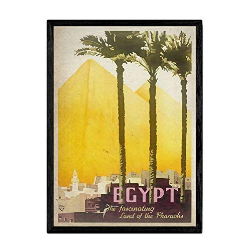 Nacnic Poster Vintage de Egipto. Láminas para Decorar Interiores con imágenes Vintage y de Publicidad Antigua. Cuadros decoración Retro. Tamaño A3