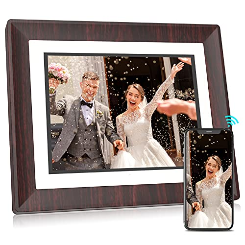 BSIMB Smart WiFi Digital Picture Frame WiFi Digital Photo Frame 1067x800 Remote Control 16GB Storage Auto-Rotate Motion Sensor Share Photos/Videos via App, Email W09(9 Inch)