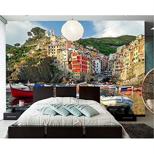 Meaosy Huizen Boten Italië Stad Foto Bouwen 3D Geschilderd Papier muurpapier voor Woonkamer Sofa Tv Muur Slaapkamer Restaurant Cafe 280x200cm