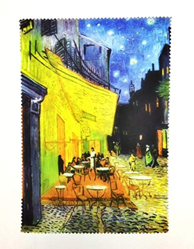 Fridolin Brillenputztuch Van Gogh-Café de Nuit, Stoff, bunt, 18x12.5x1 cm