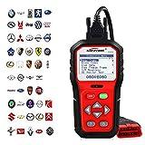 KONNWEI OBD2 Scanner Professional Car OBD II Scanner Auto Diagnostic Fault Code Reader Automotive Check Engine Light Diagnostic O2 Sensor EOBD Scan Tool for OBDII Protocol Cars Since 1996 (Red)