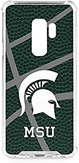 Skinit Clear Phone Case for Galaxy S9 Plus - Officially Licensed College Michigan State University Green Basketball Design