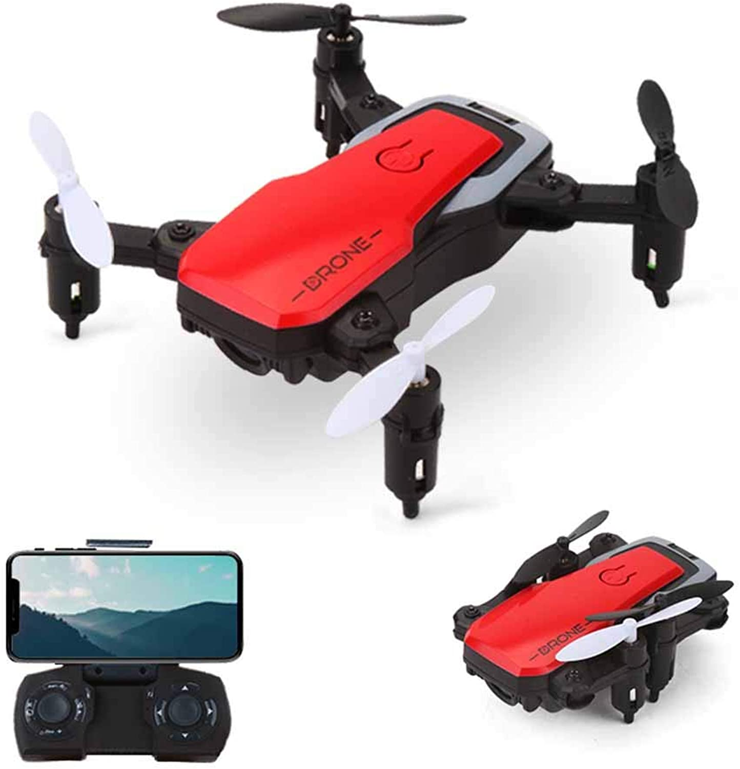 Ydq Drone With HD Camera, Wireless RC Quadcopter Drone With 120 Degree WideAngle 720P HD Camera Altitude Hold One Button Take Off Function