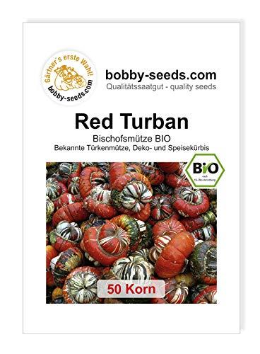 Red Turban Bio - Bischofsmütze Kürbissamen von Bobby-Seeds, 50 Korn