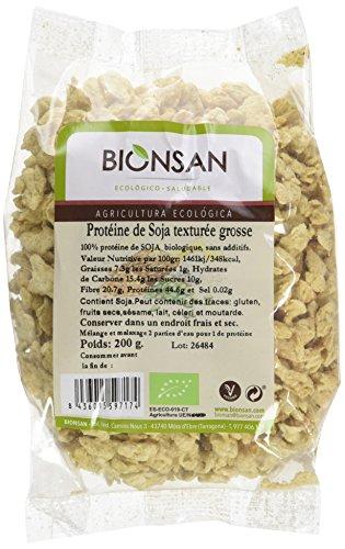 BIONSAN - BIO - Protéine de Soja Texturée Grosse 200 g