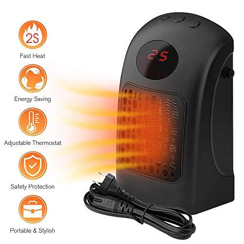 AGKupel Mini Keramik Heizlüfter,Heater Mobiler Heizlüfter Ventilator mit Schnellheitzer Schutz vor Überhitzung Geeignet 12 Stunde Zeiteinstellung Heizlüfter Elektrolüfter für Büro, Home