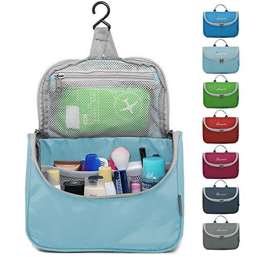 Mountaintop Kulturbeutel Kosmetiktasche Kulturtasche zum Aufhängen Toiletry Bag Waschtasche für Reise Urlaub, 23.5 x 6 x 17 cm (A - Zartes Blau)