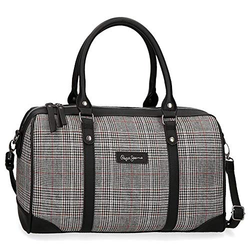 Pepe Jeans Grace Bowling-Tasche Grau 35x22x14 cms Polyester und PU