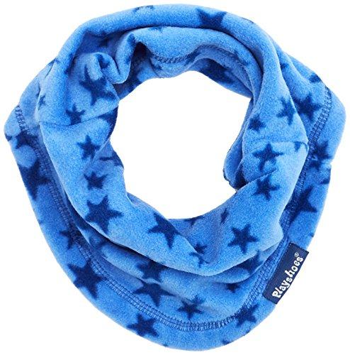 Playshoes Kinder-Unisex atmungsaktiv, mit Sternen-Muster softer Rundschal geeignet für kalte Tage, blau, one Size