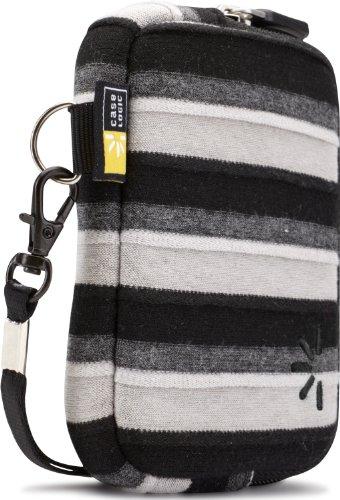 Hülle Logic UNZT202K Neoprene Pocket Stripes S Kameratasche (mit spezieller Bildschirmschutz-Einlage) schwarz