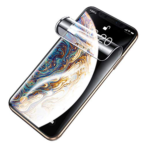 soliocial 2 Piezas Película de Hidrogel Protector de Pantalla Compatible con iPhone X (5.8  ), Cobertura Completa Película Protectora de TPU Suave Transparente (Película no Templada)