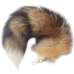 100% Real Fox Tail Fur, Please note that these tails are from farm raised foxes and not wild foxes. The fox breeding industry has always been an important VERSATILE: Great item for kids and for animal dress up. It can also be used with costumes, prop...