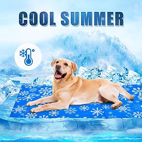 YGJT Tappetino Refrigerante per Cani Grande e Animali Domestici Pad di Raffreddamento Automatico Stuoia per Cani per L'Estate (50x90cm)