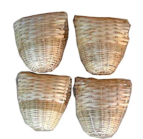 Mcage Finch Bird Bamboo Covered Bird Nest Lot of 4 - Large