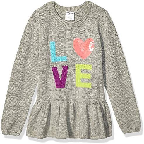 Spotted Zebra Girls Kids Peplum Sweaters Love X Small product image