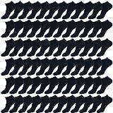 Enerwear-Coolmax 72Pack Women's Cotton Low Cut No Show Ankle Socks (9-11/72Pair, Navy Blue)