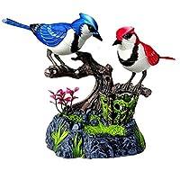 玩具 おもちゃ ツインバード インテリア 鳥の置物 音センサー 鳴く鳥 動く鳥 鳥のさえずり 癒し