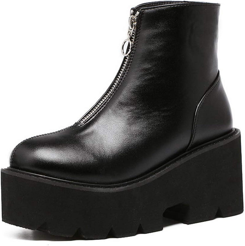 1TO9 Womens Platform Zipper Urethane Boots MNS03205