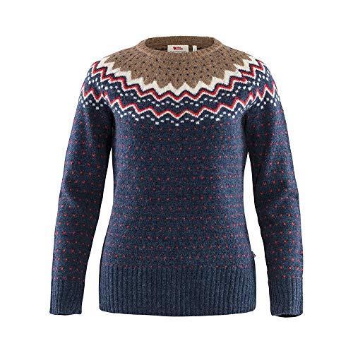 Fjallraven Damen Övik Knit Sweater W Sweatshirt, Navy, XXS