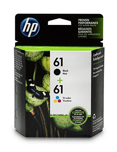HP 61 Black Ink Cartridge (CH561WN), HP 61 Tri-Color Ink Cartridge (CH562WN), 2 Ink Cartridges (CR259FN)