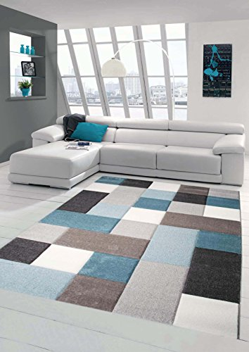 Traum Design Rug Contemporary Rug Living Room Rug Short Pile Rug 80x150 cm Blue, Turquoise
