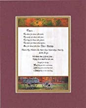 Touching and Heartfelt Poem for Inspirations - Poem for Inspirations - Time is Poem on 11 x 14 inches Double Beveled Matting (Burgundy)
