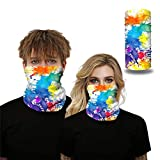 TOPEREUR 3D Druck Halstuch Unisex Gesichtsmaske Multifunktionstuch für Damen und Herren, Atmungsaktiv Schnelltrocknend Schlauchschal Joggen Wandern Fahrrad Motorrad Halsschlauch Outdoor Sport Maske