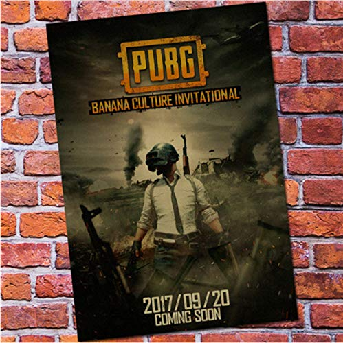 mohanshop Fps Game Playerunknown'S Battlegrounds Poster Pubg Winner Winner Chicken Dinner Canvas Game Poster Drawing Core A225 (50X70Cm) Sin Marco