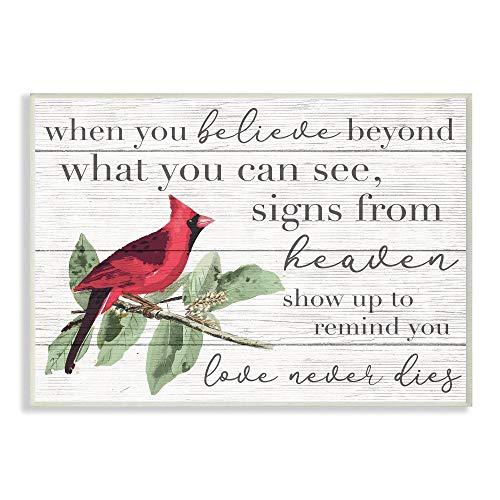 Cardinal Bird Word Wall Plaque
