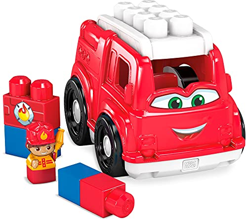 Mega Bloks First Builders Freddy Fire Truck, Building Toys for Toddlers (6 Pieces)