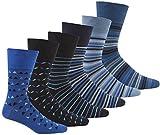 Pierre Roche Comfort Fit Non-Elastic Top Socks 6-11 6 Pack Multi