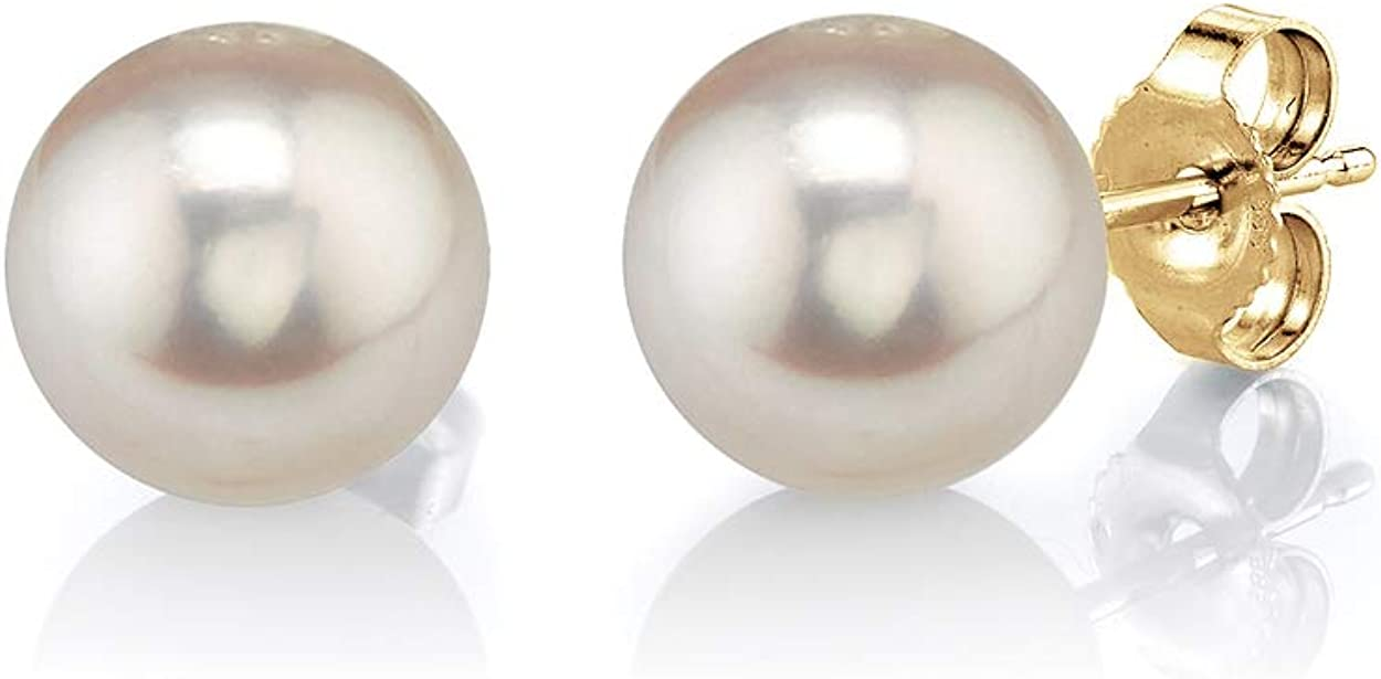 Freshwater Cultured Round Pearl At the price of surprise Earrings with Limited price sale for Women Gold 14K