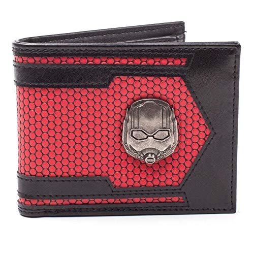 MARVEL COMICS Ant-Man & The Wesp Helm Metall Badge Bi-Fold Wallet Kreditkartenetui 28 cm rot