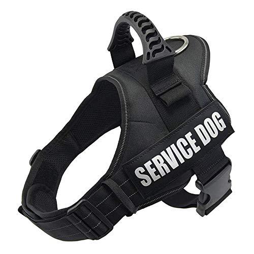 Wodondog Arnés para Chaleco de Perro Arnés de Perro Transpirable Ajustable para Perros pequeños, medianos y Grandes (L, Negro)