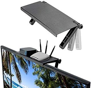 Tee Vee TV Top Shelf Screen Caddy Platform Adjustable Mount Top Shelf 13 Inch TV Screen Cellphone Stand for Media Boxes Ga...