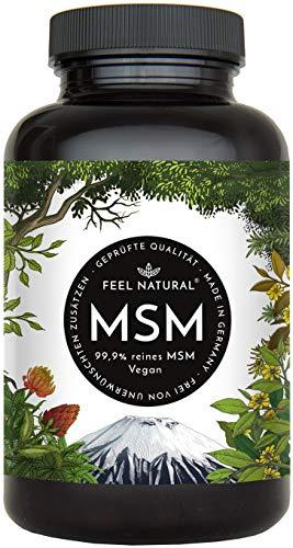 MSM Kapseln - Laborgeprüft - 365 vegane Kapseln (6 Monate) ohne Zusätze. 1600mg MSM (Methylsulfonylmethan) Pulver je Tagesdosis. Vegan - hergestellt in Deutschland